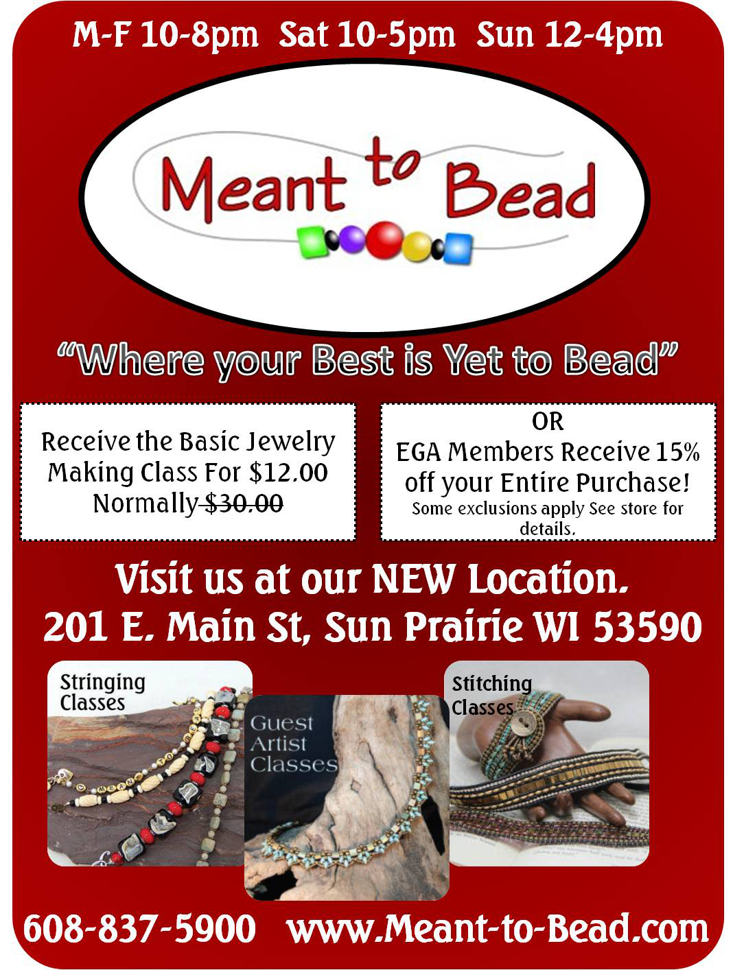 Meant To Bead Ad