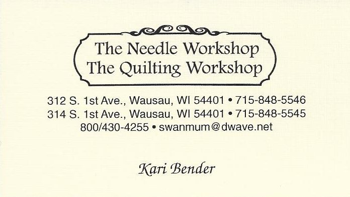 The Needle Workshop / The Quilting Workshop Ad