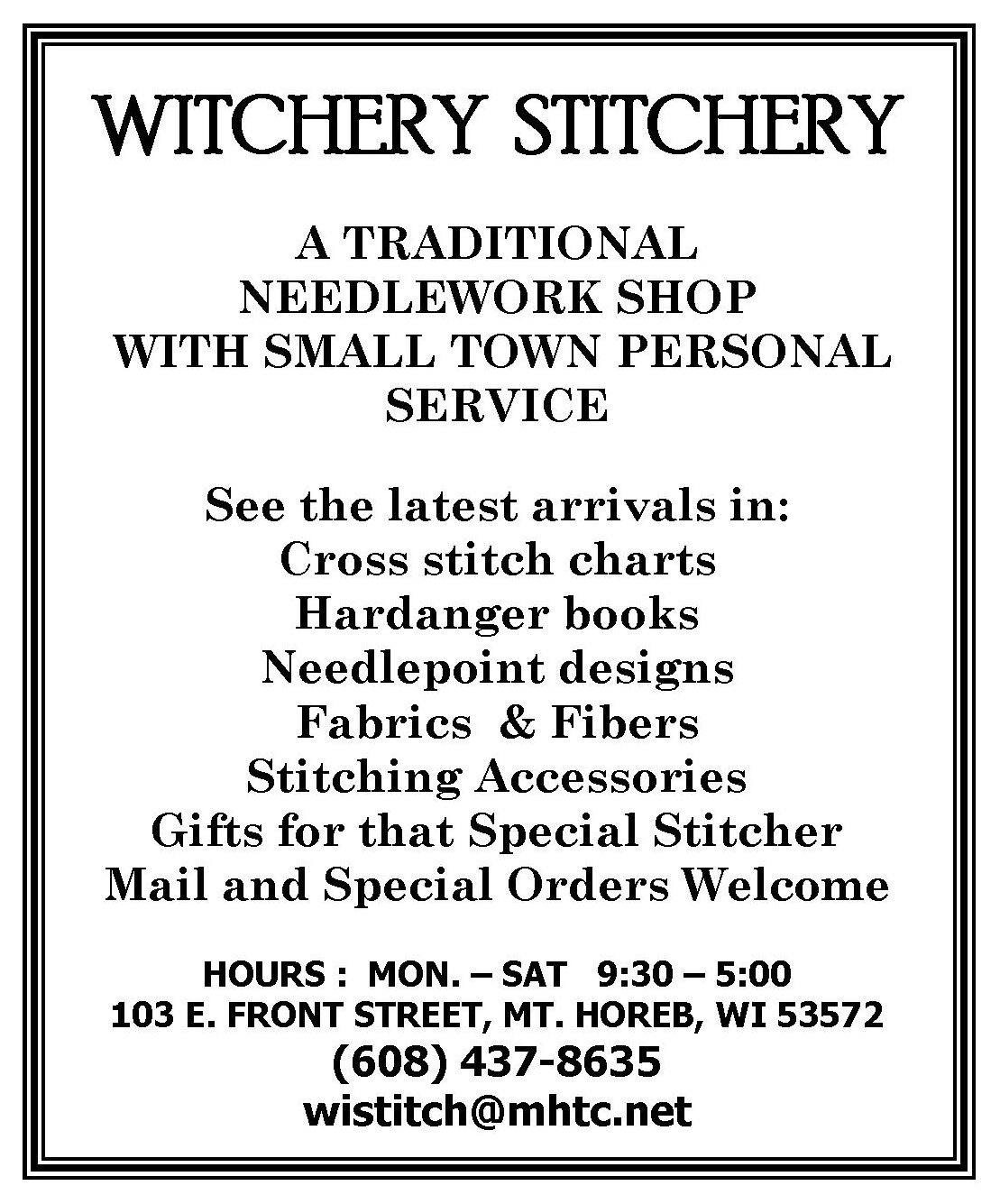 Witchery Stitchery Ad