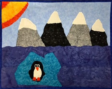 Allied Drive Learning Center Penguin Embroidery Art