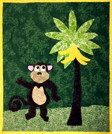 Allied Drive Learning Center Monkey Embroidery Art